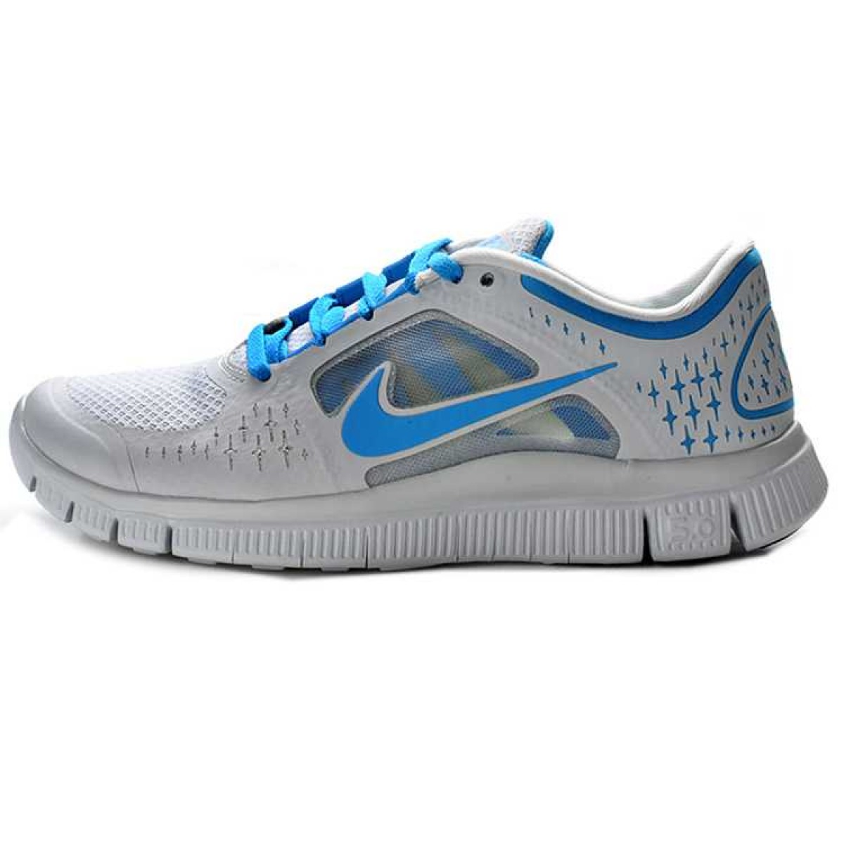 outlet store 55438 170ce Nike Free 5.0 V4 Homme Chaussures Bleu Blanc,nike free nike dunk  low,Meilleur
