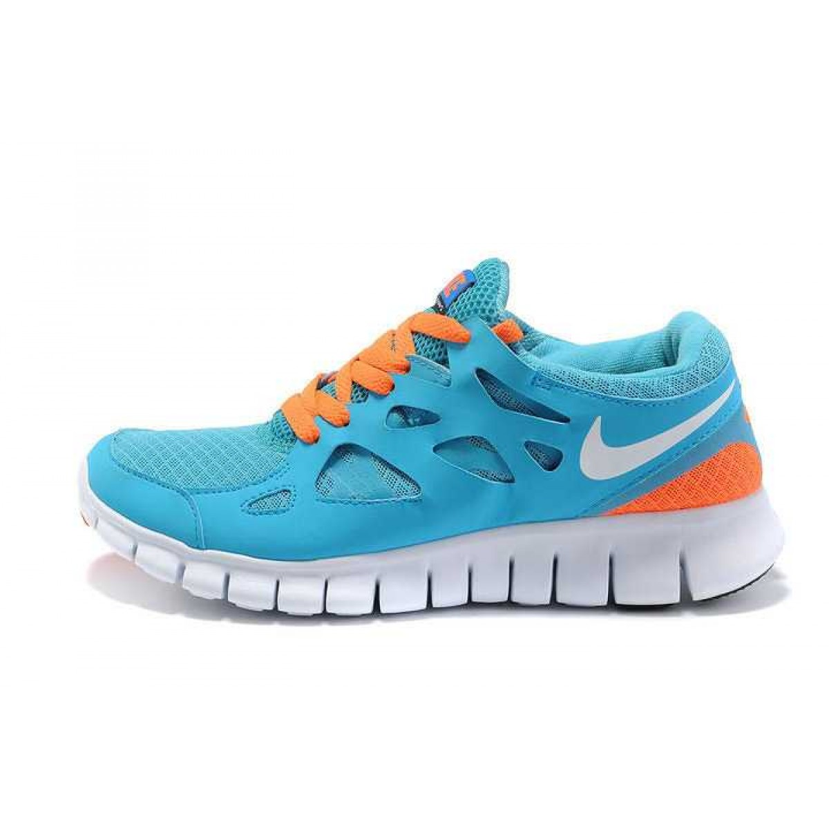 brand new a7108 2ca50 Nike Free Run 2 Homme Chaussures Blanc Bleu Orange,nike free nike,pas cher