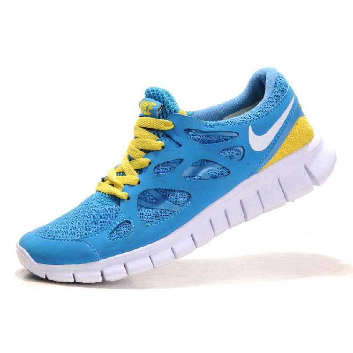 factory price 10f86 99c47 Nike Free Run 2 Femme Chaussures Bleu Jaune,nike free chaussure  online,Large choix