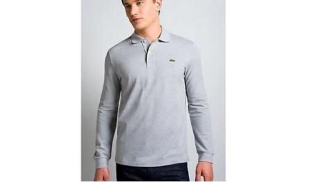 4015c28fa7 Lacoste Homme Longue Manches Classic Pique Polo Gris,chemise  oxford,boutique paris,Ralph