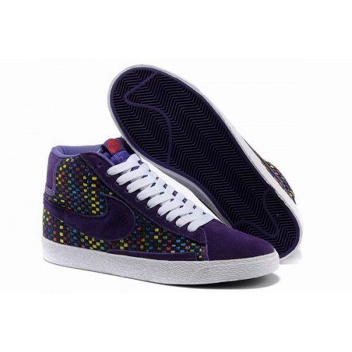 the latest eacad f3bf8 Nike Blazer Woven Leisure High Purple Blanc Wov234,nike free nike  sneakers,soldes