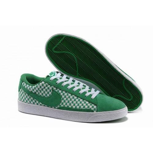 Nike Blazer Woven Leisure Low Vert/Blanc Wov230,nike free site de chaussure,