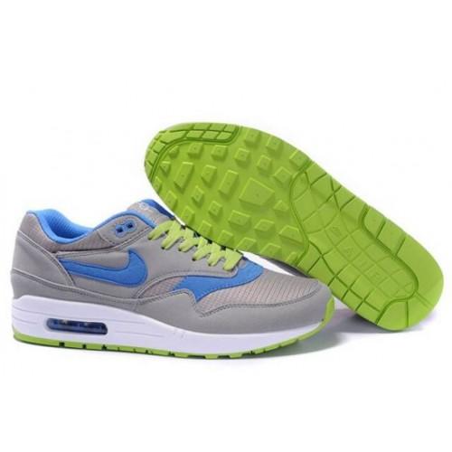 more photos dd1ff 7013c Nike Air Max 1 Homme Omega Charcoal Bleu Vert M1H024,nike free run 3