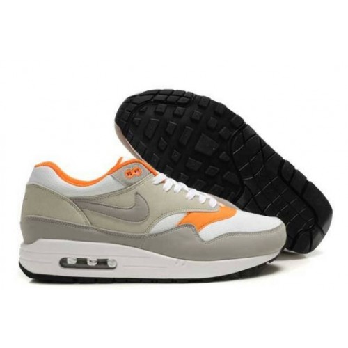 wholesale dealer 9eda2 82f6f France 2014 Nike Air Max 1 Homme Gris Blanc Tous les Orange M1H004,nike
