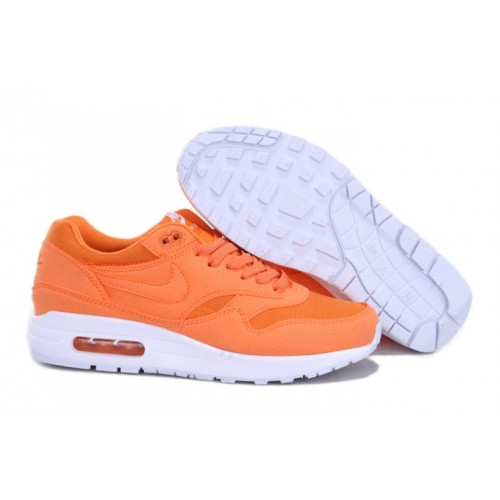 san francisco 01327 0fd45 Nike Air Max 1 Homme Nouveau Orange Blanc M1H010,nike free nike requin,