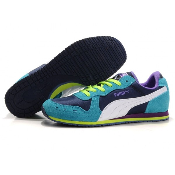 on sale 09704 b9661 puma bayndyt puma pour femme navy vert violet,online puma,soldes,Puma-