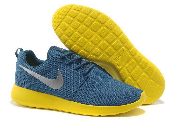 new style 2d06d d4f7c Acheter Chaussures Nike Roshe Run Femme Bleu Jaune Argent Mesh V,air jordan  eclipse,offre spéciale