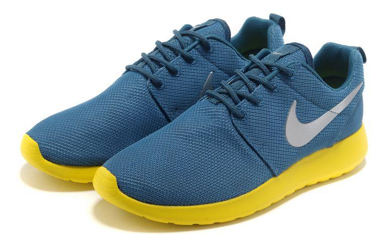 b911790aa15c ... Acheter Chaussures Nike Roshe Run Femme Bleu Jaune Argent Mesh V