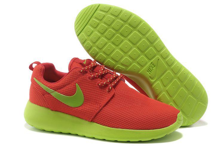 new style a1df8 cbe4a Acheter Chaussures Nike Roshe Run Femme Orange Vert Mesh CI127,air jordan  18,achetez