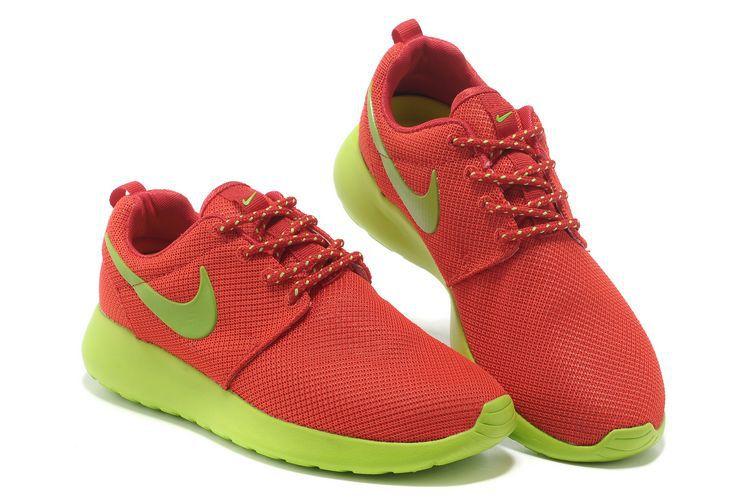 new product 44c4b 0327e ... Acheter Chaussures Nike Roshe Run Femme Orange Vert Mesh CI127,air  jordan 18,achetez ...