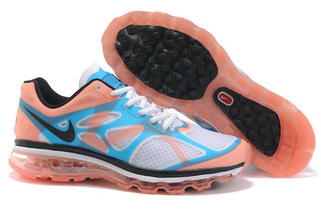 online store e6bb9 7d589 Pas Cher Nike Air Max 2012 Homme Blanc Bleu Rose en ligne Chaussures,