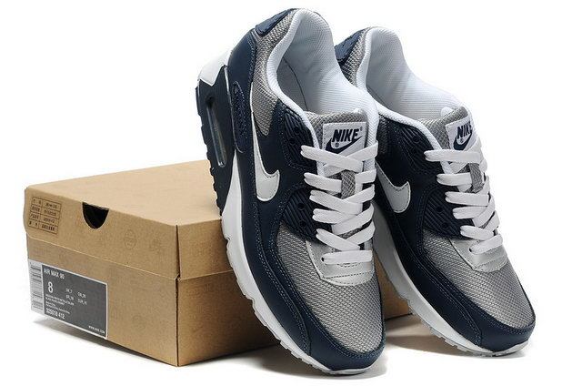 a0281990021199 Pas Cher Nike Air Max 90 Homme Midnight Bleu Argent Soldes Chaussures ,casquette