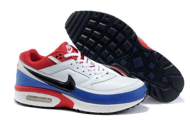 new concept 8fc3b 4cca3 Pas Cher Nike Air Max Classic BW Homme Blanc Noir Rouge Bleu Soldes