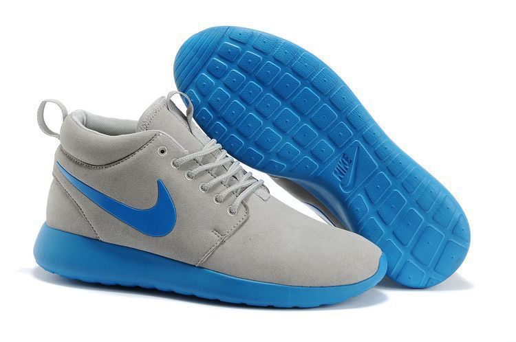 new style 256a6 b751f Nike roshe run mid suede bleu clair gris,air jordan 30,Livraison rapide,