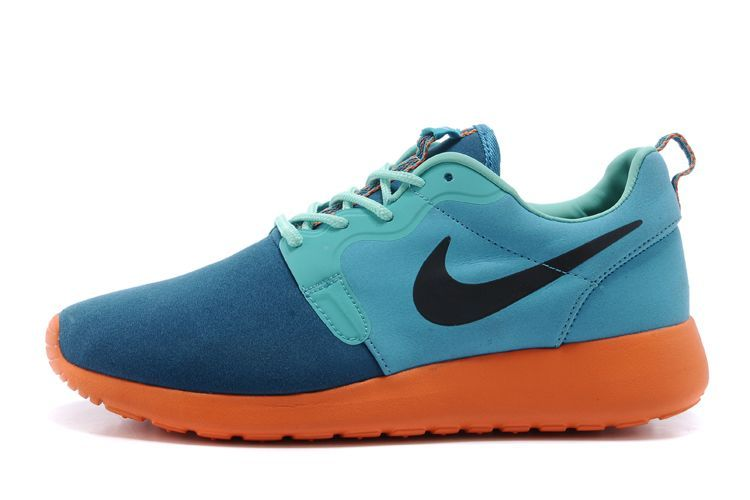 cheap for discount 60c5a 39c17 Nike Roshe Run Suede bleu-vert 2014 Homme,nike air jordan pas cher,