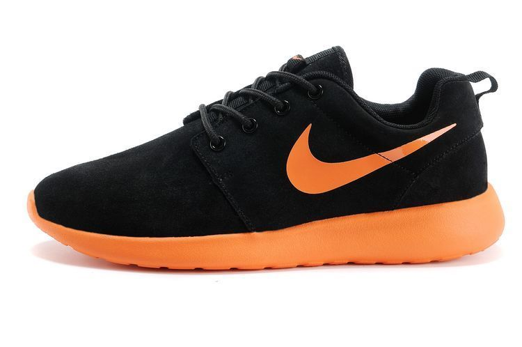 san francisco dab7d ed02b Nike Roshe Run Suede Noir orange 2014 Homme,air jordan 6 retro,vente chaude