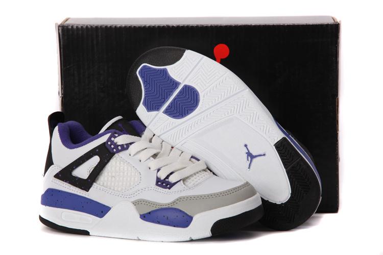 online store 14276 811eb Air Jordan 4 Enfant Blanc Pourpre,air jordan blanche,achat pas cher,