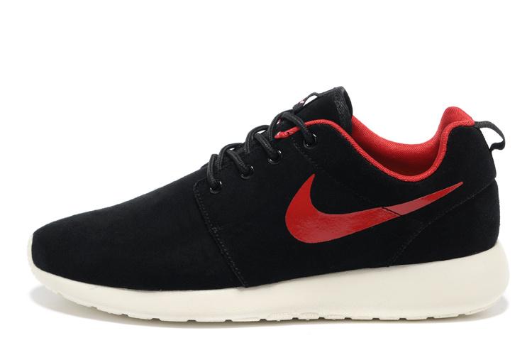 official photos 4cb7b 40a73 Nike Roshe Run Suede Noir Rouge Femme,air jordan logo,magasins pas chers,