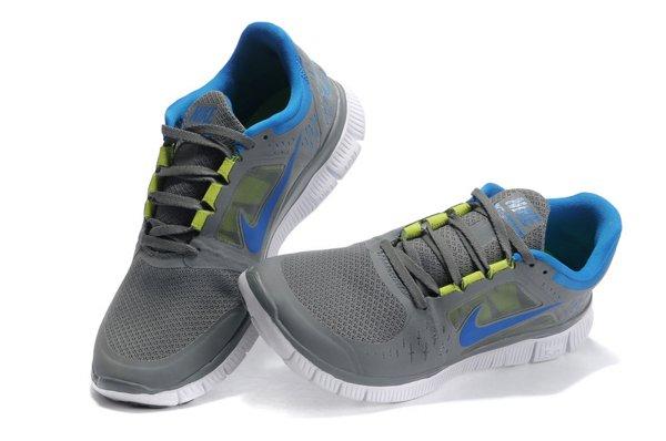 sale retailer 2a96d 588d3 Nike Free Run+ 3 Chaussures de Course Pied Pour Homme Gris Foncé Bleu Blanc