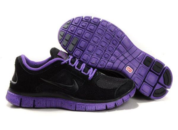 promo code 2ea38 0dc01 Nike Free Run+ 3 Chaussures de Course Pied Pour Homme Noir Violet Foncé,air