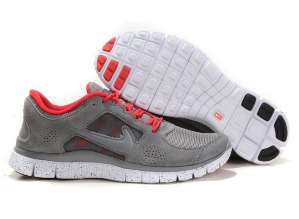 new arrival 31ee5 fb03e Nike Free Run+ 3 Chaussures de Course Pied Pour Homme Gris Blanc Rose,