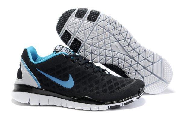 cheap for discount cdfd8 e0767 Nike Free TR Fit Chaussures de Course Pied Pour Homme Noir Bleu Clair Blanc