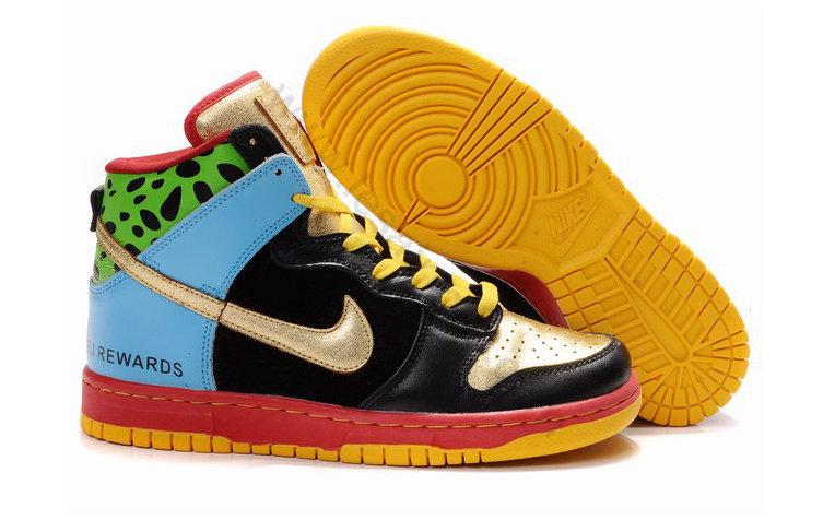 the best attitude 92981 67844 ... Chaussures Nike Dunk SB Homme Pas cher Noir or et Bleu,soldes chaussures,Authenticité  ...