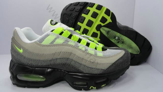 low priced 8435b 867ca Chaussures Nike air max 95 femme Pas cher Noir Gris et Vert,chaussure nike  online
