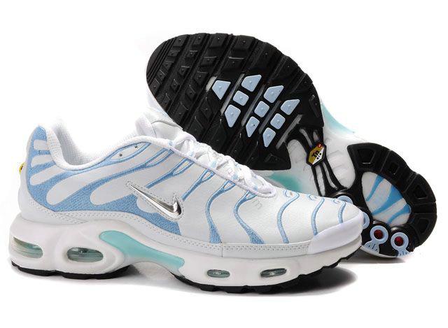 huge discount eff59 ff884 Chaussures Nike air max TN femme Pas cher Blanc et Light Blue,vetement de  marque