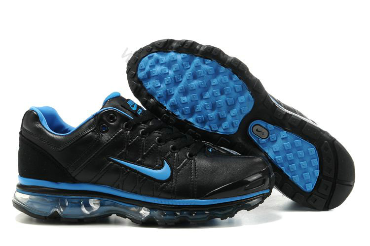 big sale 333b0 e079d Chaussures Nike Air Max 2009 Homme leather Noir et Bleu,bottes pas  cher,boutique
