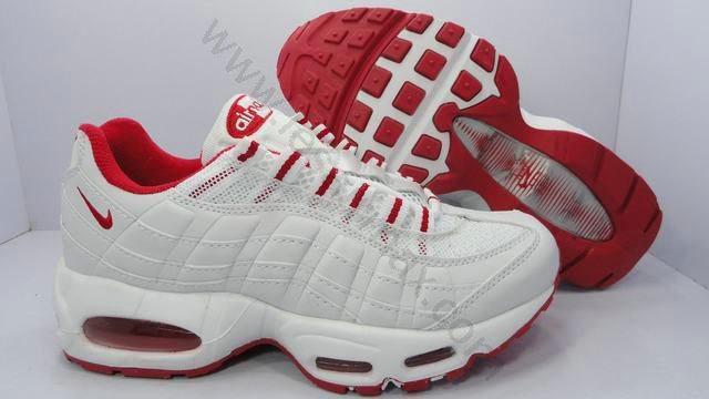 new product eefd3 4aa78 Chaussures Nike air max 95 femme Pas cher Blanc et Rouge,nike basket,achetez