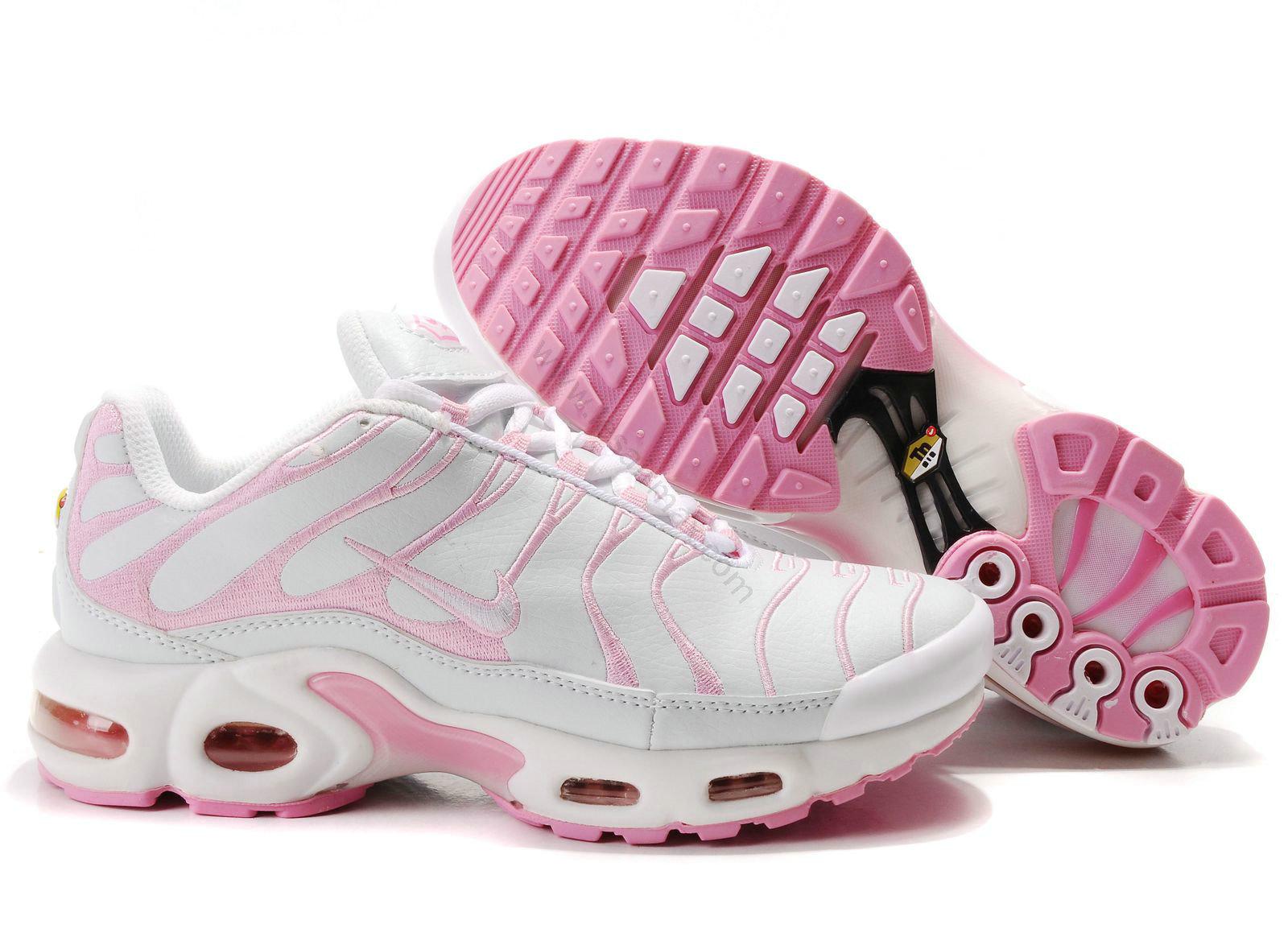 half off 39701 bafd3 Chaussures Nike air max TN femme mode Blanc et Rose,air max nike,soldes