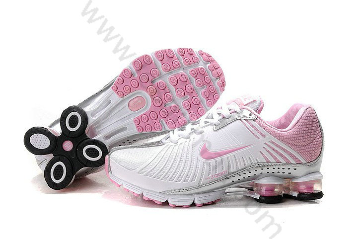 new style 619a2 39be1 Chaussures Nike shox r4 femme vente chaude Blanc et Rose,air max bw,Top