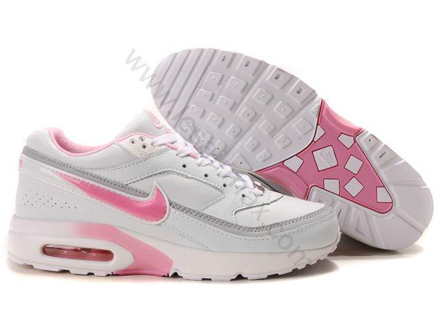 hot sale online 12889 7b60d Chaussures Nike air max BW femme Pas cher Blanc et Rose,air max 90 soldes