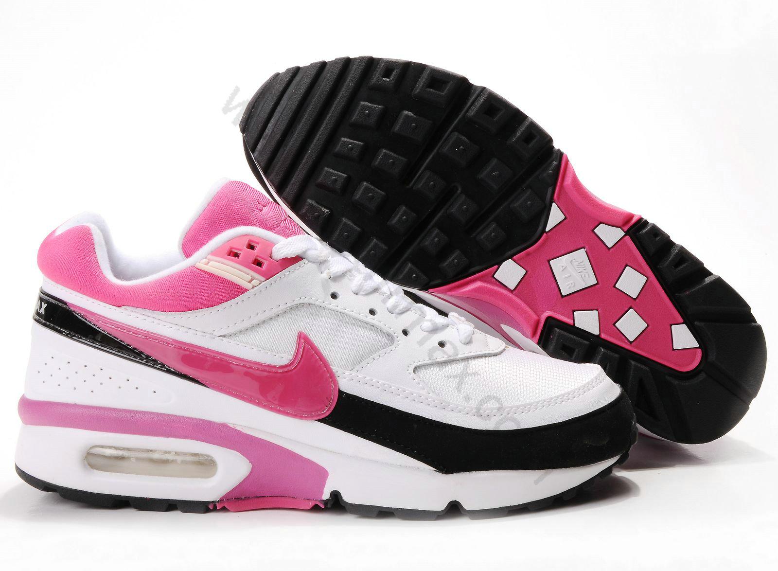 san francisco 33265 39b90 Chaussures Nike air max BW femme Pas cher Blanc Noir et Rouge,baskets nike,