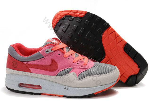 online store a5e64 ee516 Chaussures Nike Air Max 1(87) Homme Pas cher gris rose rouge,nike