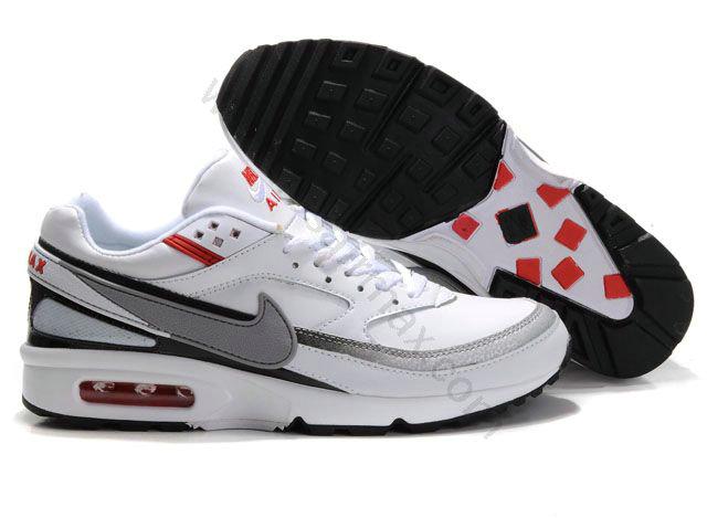 more photos 2343a bbff4 Chaussures Nike air max BW Homme Pas cher Blanc et Gris,maillot de foot pas