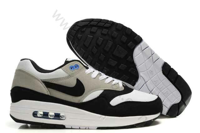 official photos 917b2 c77f1 Chaussures Nike Air Max 1(87) Homme Pas cher Noir Blanc et Gris,